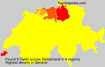 Surname Oefeli in Switzerland