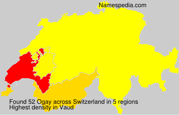 Surname Ogay in Switzerland