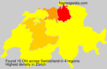 Surname Ohl in Switzerland