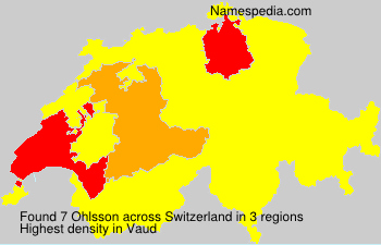 Surname Ohlsson in Switzerland