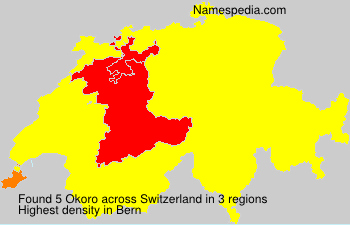 Surname Okoro in Switzerland