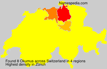 Surname Okumus in Switzerland