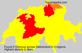 Surname Omoruyi in Switzerland
