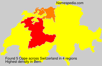 Surname Oppe in Switzerland