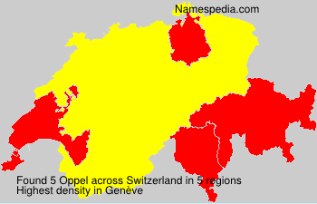 Surname Oppel in Switzerland