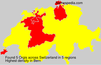 Surname Orgis in Switzerland