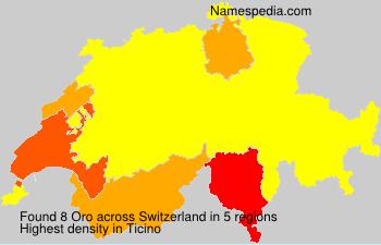 Familiennamen Oro - Switzerland