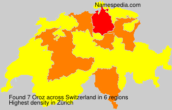 Surname Oroz in Switzerland