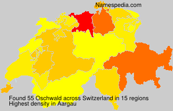 Surname Oschwald in Switzerland