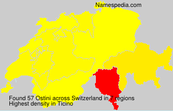 Surname Ostini in Switzerland