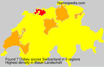 Surname Ozbey in Switzerland