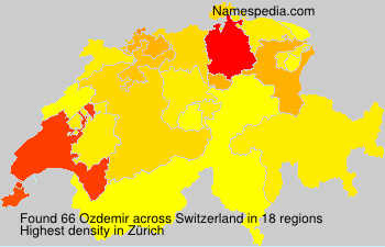 Surname Ozdemir in Switzerland