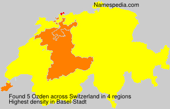 Surname Ozden in Switzerland