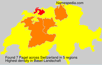 Surname Pagel in Switzerland