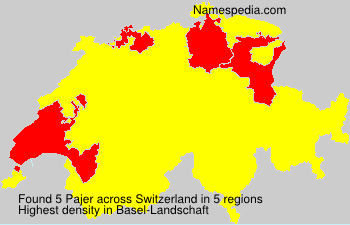 Surname Pajer in Switzerland