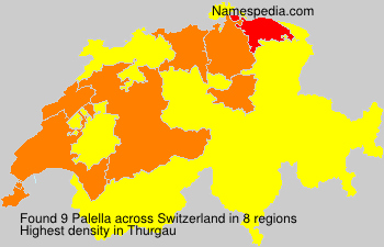 Surname Palella in Switzerland