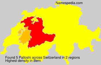 Surname Palloshi in Switzerland
