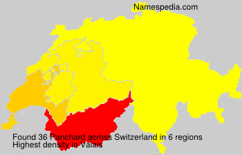 Familiennamen Panchard - Switzerland