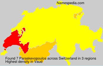 Surname Paraskevopoulos in Switzerland