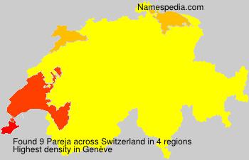 Surname Pareja in Switzerland