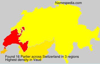 Familiennamen Parlier - Switzerland