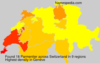 Surname Parmentier in Switzerland