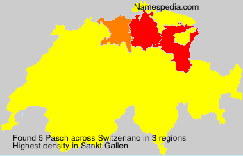 Surname Pasch in Switzerland