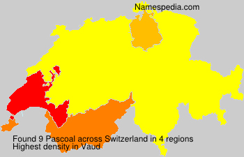 Surname Pascoal in Switzerland