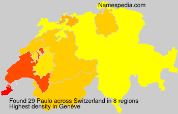 Surname Paulo in Switzerland