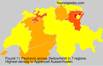 Surname Pavicevic in Switzerland