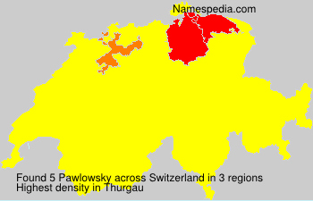 Surname Pawlowsky in Switzerland