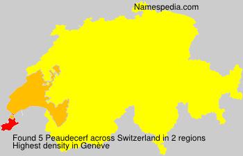 Surname Peaudecerf in Switzerland
