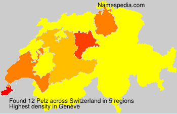 Surname Pelz in Switzerland