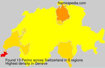 Surname Perino in Switzerland
