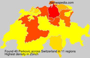 Surname Perkovic in Switzerland