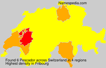 Surname Pescador in Switzerland