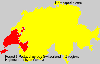 Surname Pettavel in Switzerland