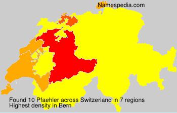 Surname Pfaehler in Switzerland