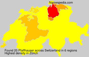 Surname Pfaffhauser in Switzerland