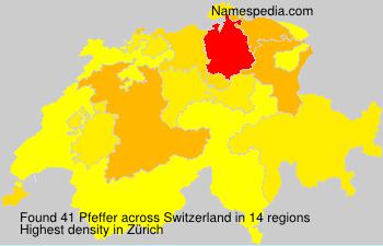 Surname Pfeffer in Switzerland
