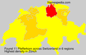 Surname Pfefferkorn in Switzerland