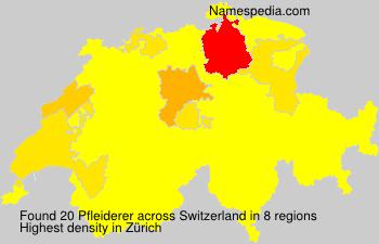 Surname Pfleiderer in Switzerland
