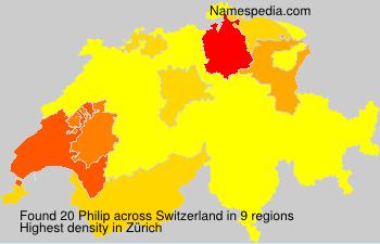 Surname Philip in Switzerland