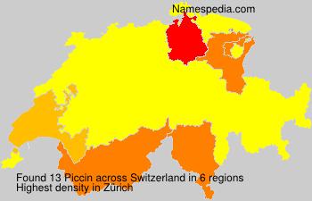 Surname Piccin in Switzerland