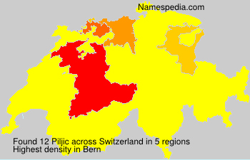 Surname Piljic in Switzerland
