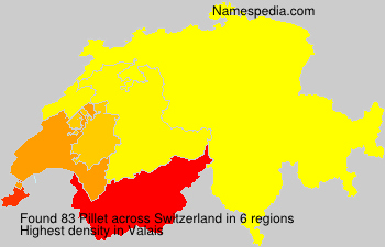 Surname Pillet in Switzerland