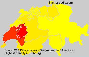 Familiennamen Pilloud - Switzerland