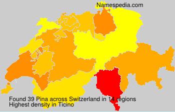 Familiennamen Pina - Switzerland