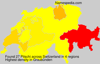 Surname Pitschi in Switzerland