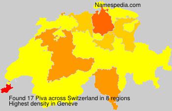 Surname Piva in Switzerland